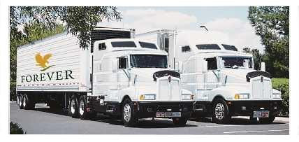 Ιδιόκτητα Φορτηγά Διανομής Προϊόντων της Forever Living Products